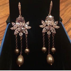 Swarovski crystal & pearl earrings